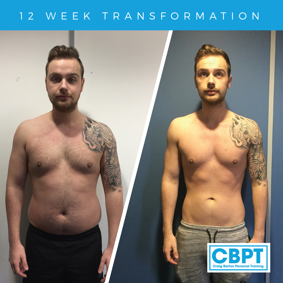 Ryans Transformation over 12 weeks with Craig Barton