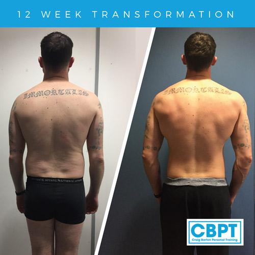 body transforamtion back view james