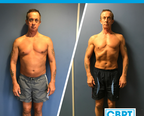 front view of body transformation of mark with craig barton pt